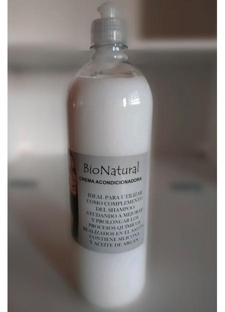 Crema Acondicionadora Silicona y Argán  - BioNatural - 500mL